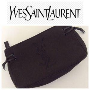 YSL BLACK FABRIC CLUTCH OR COSMETIC BAG